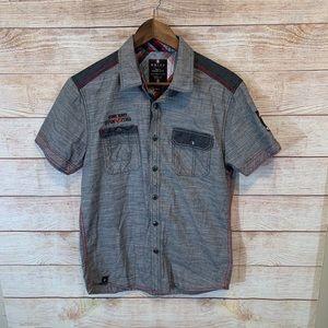 NOIZE brand men's button down shirt size small